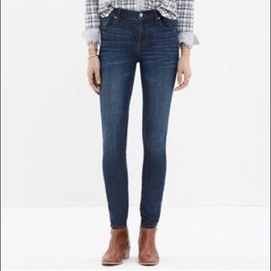 MADEWELL High Riser Skinny Jeans in Atlantic Wash